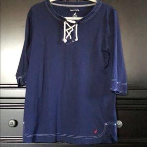 Solid Blue 3/4 Shirt